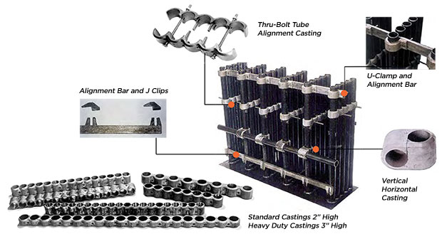 Pendent Tube Alignment Castings