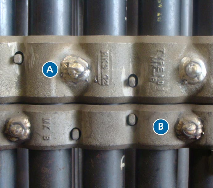 "A: 3"" High / Heavy-Duty  B: 2"" High / Standard"