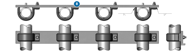 Bolt-on U-Clamp and Bar